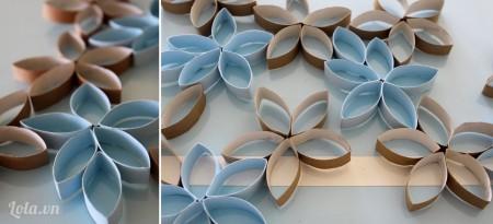 Bạn có thể dùng màu sơn yêu thích để tạo màu sắc cho cánh hoa, xịt xong bạn nhớ để khô