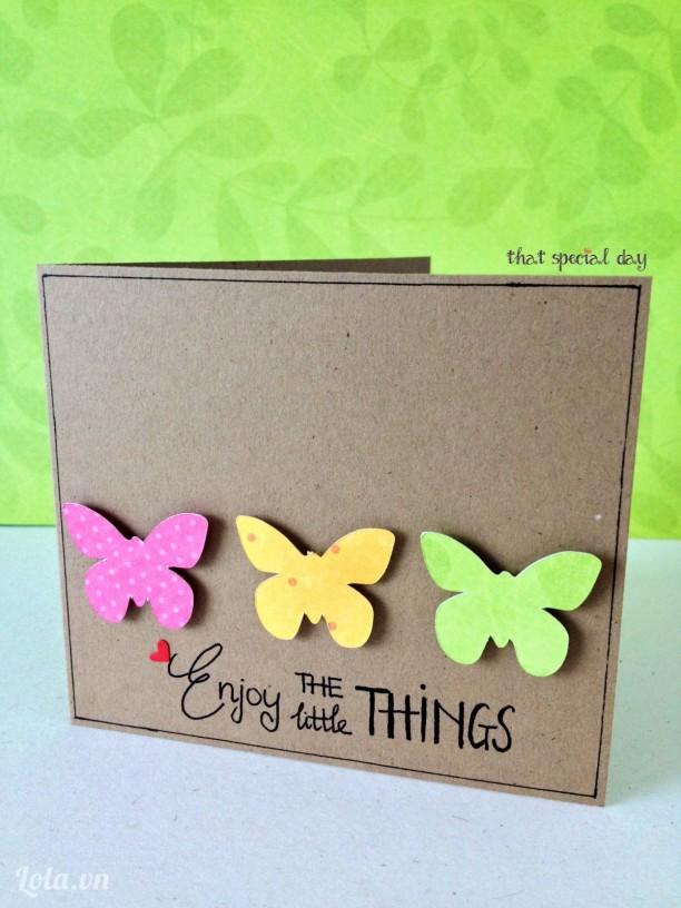 Thiệp mini - Enjoy the little things
