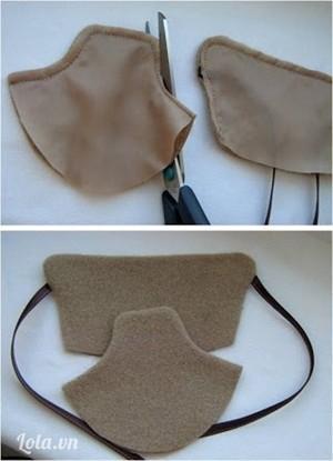 Dùng kéo cắt bớt diềm vải thừa ngoài đường may cho gần sát với đường chỉ, lộn phải và là ủi thật phẳng.