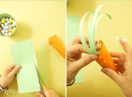 Cuộn nhưng dải màu xanh quanh ngón tay để tạo dáng.