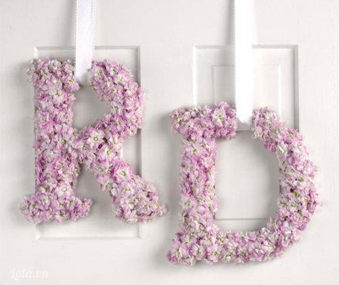 Làm mẫu chữ bằng hoa