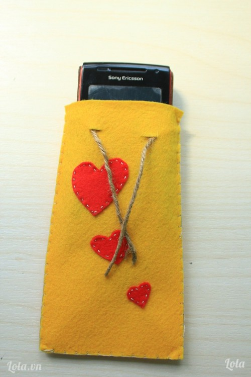 Bao đựng điện thoại bằng vải dạ