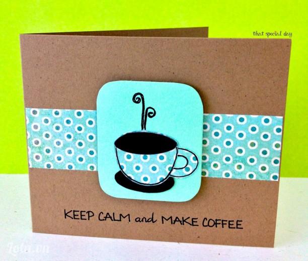 Thiệp Mini - Keep calm and make coffee