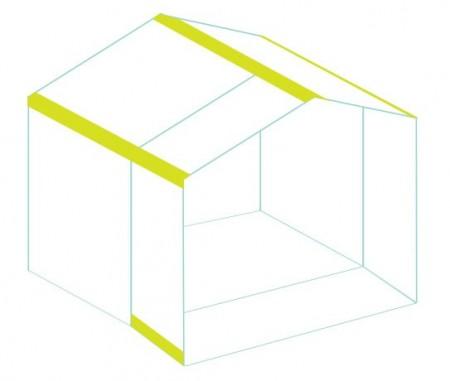 Dán máy nhà và nhà lại với nhau thế là bạn đã làm xong ngôi nhà xinh xinh rồi đấy. Phần giấy bạn cắt lúc nảy có thể dùng để làm nền cho ngôi nhà bạn nhé.