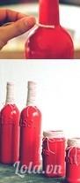 Sau khi chờ sơn khô bạn dùng dây cói quấn quanh vỏ chai như trong hình Như vậy là bạn đã có một món đồ home décor ưng ý rồi nhé