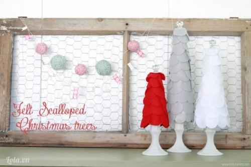 Làm cây thông Noel bằng vải Nỉ cực kì nhanh