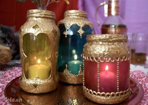 Làm vỏ chai theo phong cách Ấn Độ