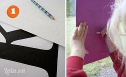 Đầu tiên bạn vẽ chữ cái mà bạn mong muốn ra giấy trắng
