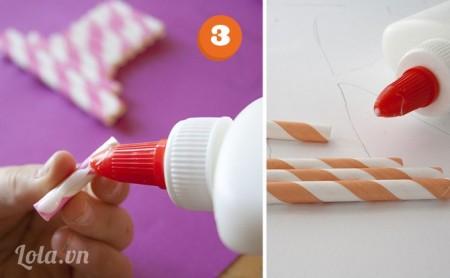 Sau đó cắt các ống hút với độ dài phù hợp với chữ của bạn