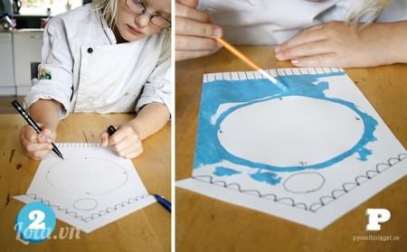 Sau khi vẽ xong bản thảo bạn tô lại bằng màu sơn bạn yêu thích và chờ khô