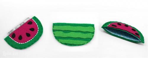 Thiết kế túi thêu hình trái cây ngộ nghĩnh