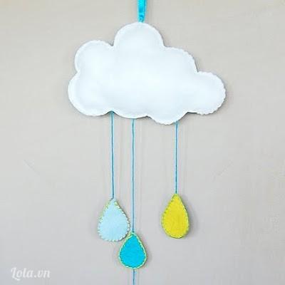 Làm móc khóa điện thoại hình đám mây
