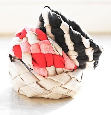 Tái chế áo thun cũ thành vòng tay cực chất