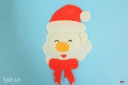 Dán miệng vào hoàn chỉnh khuôn mặt của ông già Noel