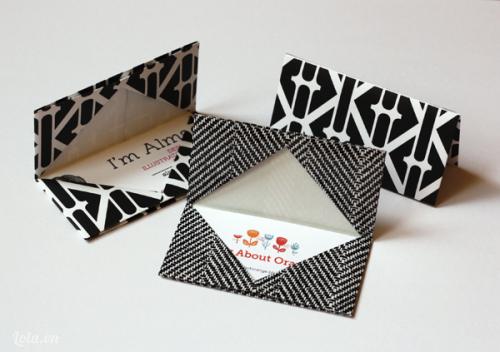 Làm ví bỏ card đơn giản từ giấy