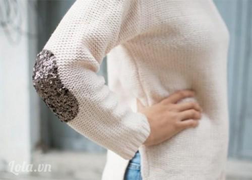 Mix áo len tay kim tuyến