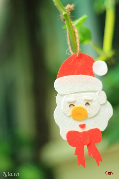 Làm ông già Noel từ vải nỉ