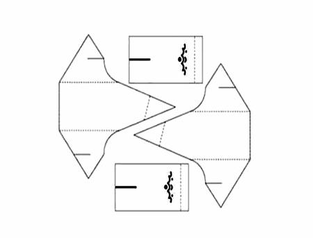 Các bạn có thể in và cắt theo mẫu có sẵn này nhé! Các đường vẽ đứt quãng là mép gấp nha
