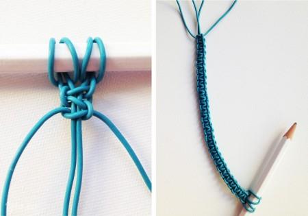 Tiếp tục thắt như trên b2 và b3 cho hết đoạn dây và dùng bút làm đoạn chốt cho dây là bạn đã có cho mình được một chiếc vòng tay cực xinh xắn rồi