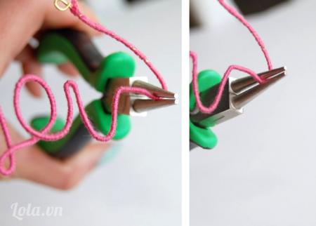 Quấn dây và kiềm cho chữ E