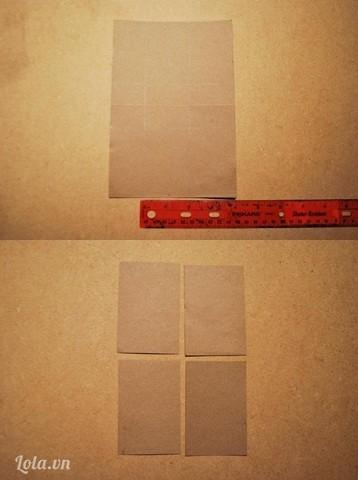 Bạn cắt tờ giấy A4 thành 4 tấm nhỏ