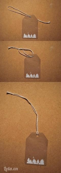 Luồn dây qua lỗ nhỏ đã bấm như trong hình  Bạn đã nhanh chóng có cho mình một sản phẩm cực yêu rồi nhé