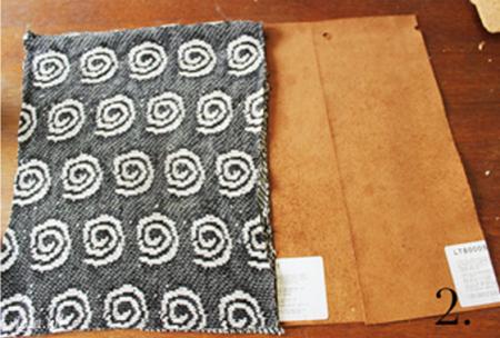 Cắt hai mảnh ra có cùng chiều rộng như những mảnh áo len