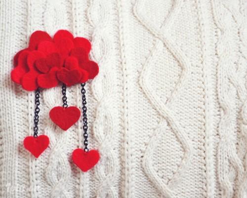 5 phút với đồ cài áo trái tim cực yêu